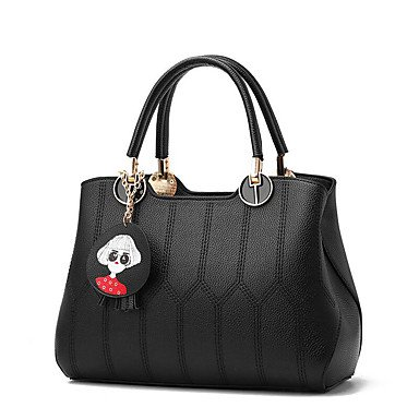 Damenmode Plaid PU Leder Messenger Umhängetaschen/Handtasche Tote Wine