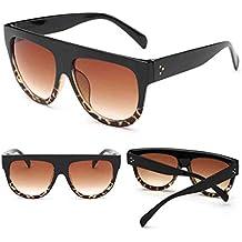 des lunettes de soleil,LHWY Lunettes de soleil en miroir Vintage verres de lunette de sport en plein air (Or, H)