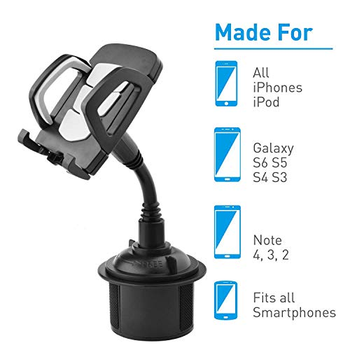 ZDZHU Car Phone Mount Universal Adjustable Gooseneck Cupholder für Mobiltelefon im Kombi -Raum 902 Handy