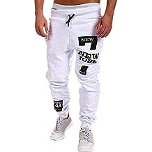 YanHoo Pantalones de chándal de los Hombres Pantalones Casuales de los Hombres Pantalones de Moda para
