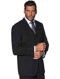 JP 1880 Herren große Größen bis 70 | Sakko | Anzug-Jacke in schwarz & blau | Blazer mit 2-Knopf Verschluss | Schnurwoll-Qualität | Gehschlitz | 705512