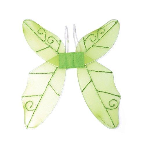 Mystische Elfe Kostüm - Bristol Novelty BA353 Schmetterlingflügel, Grün, Damen, Einheitsgröße
