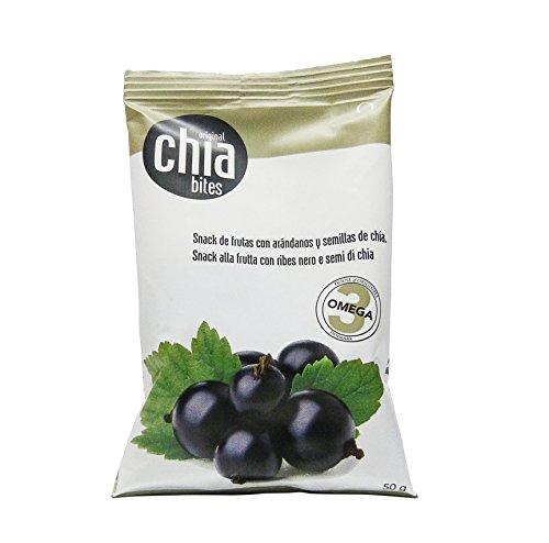 Original chia bites- Snack saludable, con frutas del bosque, sin azúcares añadidos con semillas de chia. Bolsas de 50 gr....
