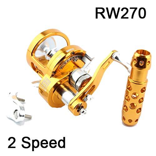 Full Metal Salzwasser Jigging Reel Left/Right Hand 7 + 1BB Super Power 30Kg Big Game Sea Drum Casting Trolling Rollen, Rw270, Left Hand