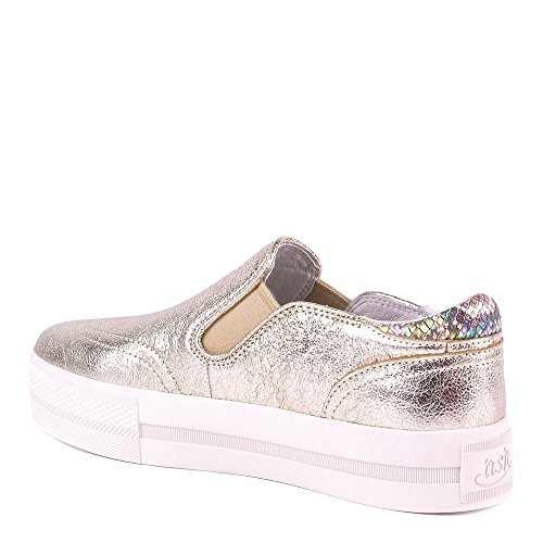 Ash Chaussures Jungle Platine Baskets Or Femme Platine