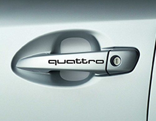 6x Quattro coche adhesivos decorativos mangos puerta
