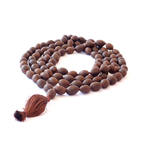 HealthAndYoga Collier de perles Mala Graines de lotus