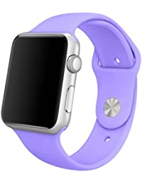 MundoPDA - Correa Deportiva para Apple Watch 42mm (Series 1 y 2) - Morado Claro