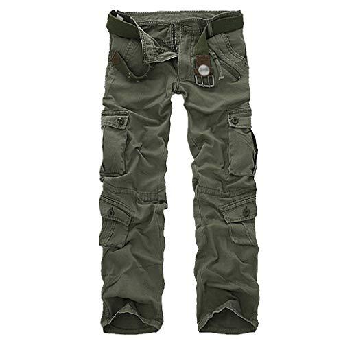 Herren Cargo Jogger Chino Hose Pants Mit Stretch Mountain Vintage Cargohose Hose erren Cargo Hose Viele Taschen Baumwolle Freizeithose Loose Fit Arbeitshose Straight Jeans -