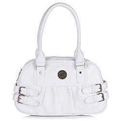 Fostelo Women's Carryall Medium Shoulder Bag (White) (FSB-528)
