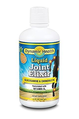 Pack of 2 x Dynamic Health Liquid Joint Elixir Pineapple and Mango - 32 fl oz