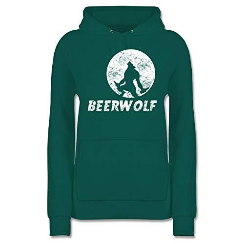 Statement Shirts - Beerwolf - XS - Türkis - JH001F - Damen Hoodie