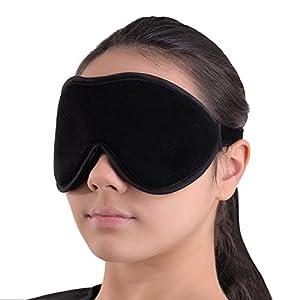 Luxus Schlafmaske – Sanfte Augenbinde – Schlafbrille mit 100% Lichtschutz für Tiefenentspannung – Beste Augenmaske aus Fließ – Sleeping Mask