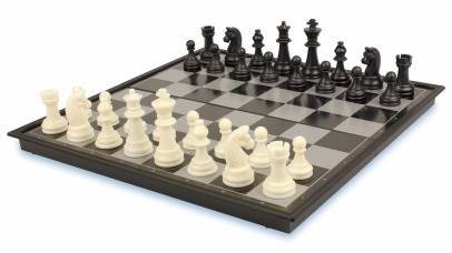 Chess & Checkers Folding Magnetic Board Travel Set Game My-1391