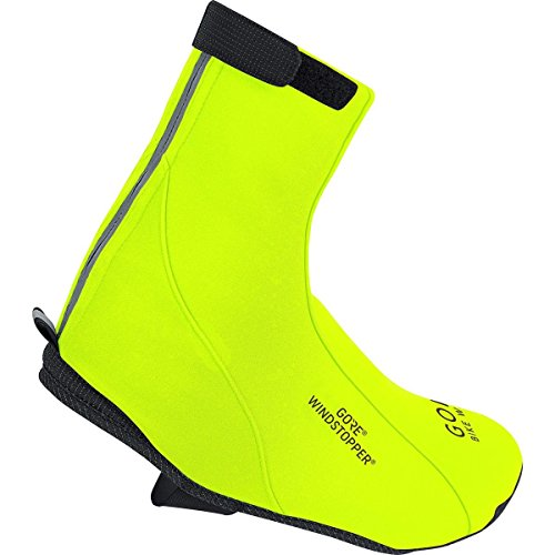 GORE BIKE WEAR Road Windstopper Soft Shell - Botin de ciclismo, color amarillo, talla 42-44