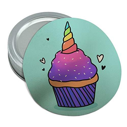 Einhorn Cupcake mit Sprinkles Regenbogen rund Gummi rutschfest Deckel Öffner