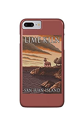 San Juan Island, Washington - Lime Kiln Lighthouse (iPhone 7 Plus Cell Phone Case, Slim Barely There)
