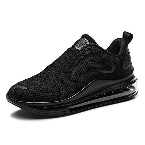 Homme Femme Chaussures de Sport Respirantes Plein Air Sneaker Running Shoes pour Trail Entraînement Course Gym Fitness Jogging Basket Athlétique Compétition (Noir,41)