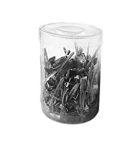 AASA Salon Metal Section Clip Dividing Clip for Hair Styling Use 60 Pcs Pack of 1 (Section Clips)