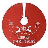 Voilamart Weihnachtsbaumdecke, 120cm Weihnachtsdeko Weihnachtsbaum Rock Weihnachtsbaum Decke Deko,Runde Filz-Baumdecke Tannenbaum-Unterlage,schützt Böden vor Nadeln und Harz