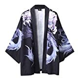 ChallengE Hemd Herren Hemden Business freizeithemd männer oberhemden Moderne Casual anzughemden Freizeit Sommer japanische fünf Punkt Ärmel Kimono Herren und Damen Mantel Jacke Top Bluse