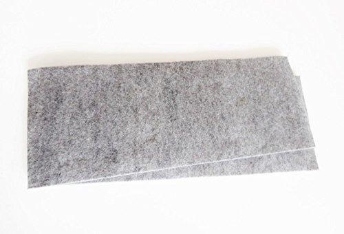 Zum Zuschneiden - 1 Paar Wollfilz - Universal Einlagen für Sattelunterlagen oder Pads Größe 1 cm Dicke