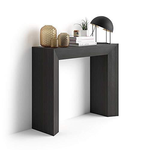 Mobili fiver giuditta consolle ingresso, olmo, frassino nero, 90x30x75 cm