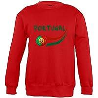Supportershop–Sweatshirt Portugal Mixta Infantil, Rojo, FR: XL (Talla Fabricante: 10años)