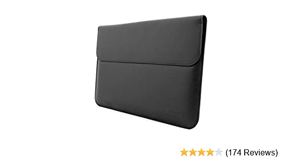 Surface Pro, Pro 4 and Pro 3 Sleeve, Snugg - Black Leather Sleeve Case [Lifetime Guarantee] Protective Cover for Surface Pro, Pro 4 and Pro 3