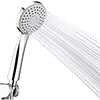 Couradric Shower Head,High Power Low Pressure Boosting Showerhead 3-Function Water Saving Handheld Chrome Shower Head with Hose and Holder Universal Fitting for Bathroom