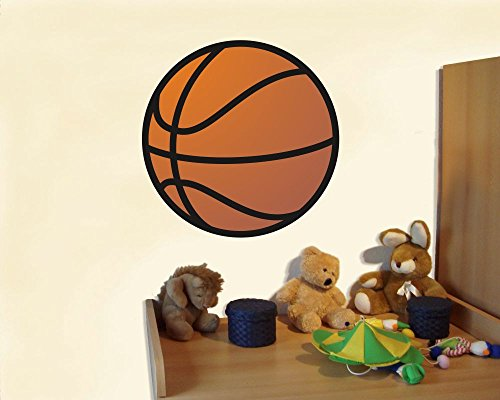 plot4u Wandtattoo Kinderzimmer Basketball Wandaufkleber in 5 Größen (20x20cm mehrfarbig) (Kinder-basketball-schlafzimmer-sets)