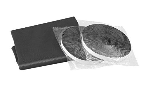 Windhager Pollen-Stop Gewebe, 130 x 150 cm inklusive Klettband, schwarz, 03382