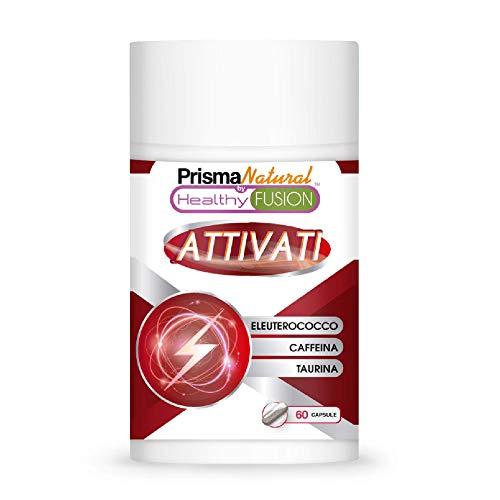 ATTIVATI Taurina e Caffeina e Eleuterococo Potente stimolante energetico Elimina la fatica e migliora la resistenza Migliora e potenzia le