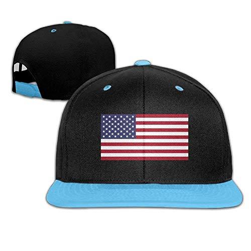 27bd3af57346f Yutirewer USA Flag for 4th of July Adjustable Unisex Hip Hop Hat Stylish  Mesh Cap for Kid's One Size