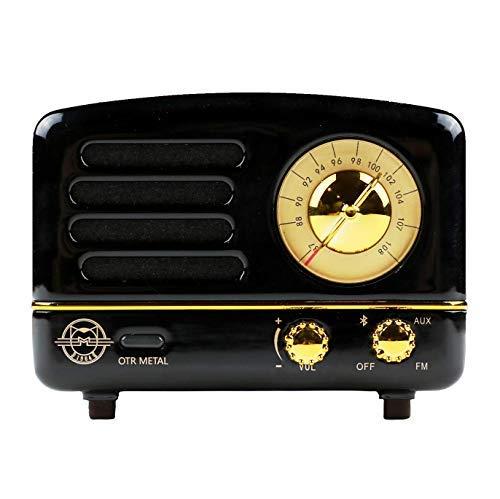 Muses Retro Bluetooth Lautsprecher Radio Jet Svart Metall (Jet Radio)
