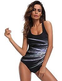 Femmes taille plus Sexy une pièce Bikini Set Monokini Push-Up Beachwear soutien-gorge rembourré Ensembles natation Maillots de bain Combinaison de plage Swimwear Swimsuit Tankini L-XXXL