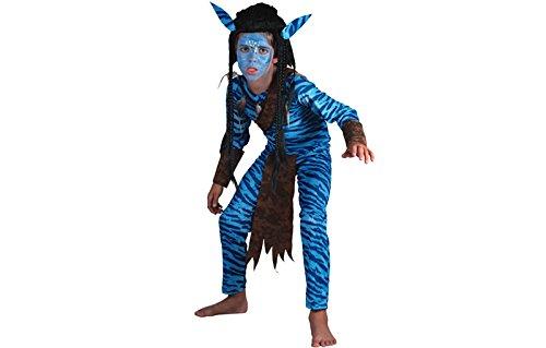 Kostüm Kinder Avatar Für (Dschungel Krieger Jungle Kinderkostüm Fasching)