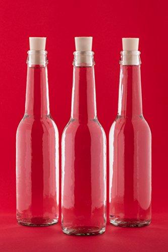 12 leere Glasflaschen 275 ml Antik Flaschen mit Korken Likörflaschen Schnapsflaschen Saftflaschen Flasche zum selbst abfüllen Nr. 250ML von slkfactory (Flaschen Glas Antike)