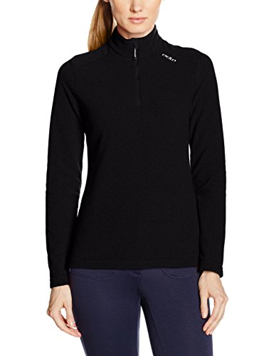 Rv-damen-sweatshirt (Odlo Damen Midlayer 1/2 Zip LE Tour Rollkragen M.Rv Lg.Arm Da, Black, L)