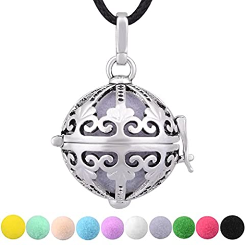 Eudora Harmony Ball Women Pendant Sterling Silver Plated Diffuser Perfume 10 Colors Pompon 24