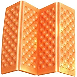 Adiabatique et subtile Structure de Bulle indépendante Pique-Nique Tampon d'humidité Mousse épaisse résistant à l'humidité Petits Coussins Tapis de Sol Frais - Orange
