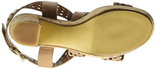 BPrivate E1504x, Sandales ouvertes femme Beige - Beige (Naturale)