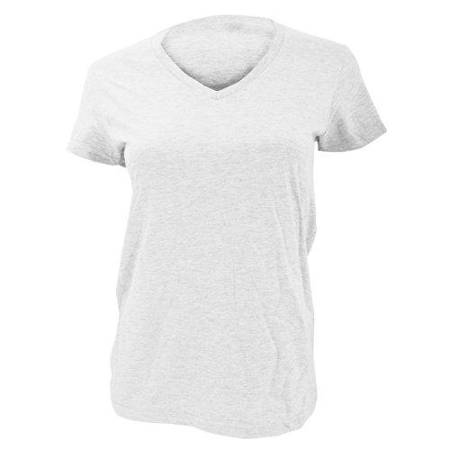 Anvil Damen T-Shirt mit V-Ausschnitt, Kurzarm (Xlarge) (Weiß) -
