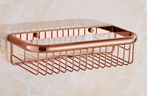 Diongrdk Die Europäische Kupfer Bad Regal Nagel Sich Rose Warenkorb Kostenlose Stiletto 5 Badezimmer Badezimmer Anhänger, Gelocht Rose Gold 30 Cm Shelf Badezimmerablagen