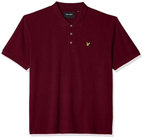 Lyle & Scott Herren Poloshirt Plus Size Plain Polo Shirt Red (Claret Jug 477)