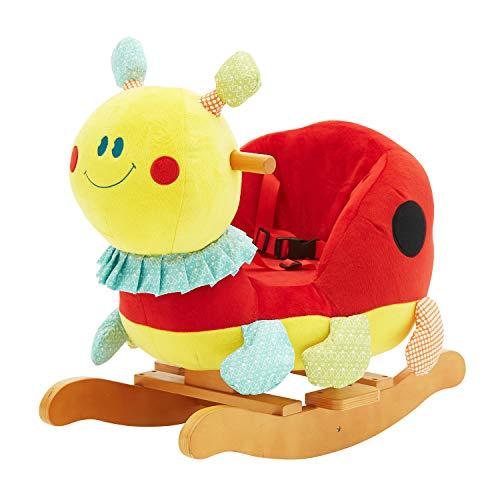 labebe Child Rocking Horse Plush, Stuffed Animal Rocker Toy, Beetle Rocker