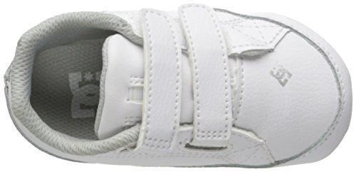 DC Youth Kids Court Graffik Infant Shoes White/Silver
