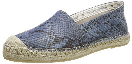 Fred de la Bretoniere Fred woman bestseller flat step-in espadrilles easy rubber sole Benidorm, Damen Espadrilles, Blau (Sky), 38 EU
