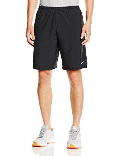Nike, Pantaloni corti Uomo Challenger, Nero (Black/Anthracite/Reflective Silver), XXL