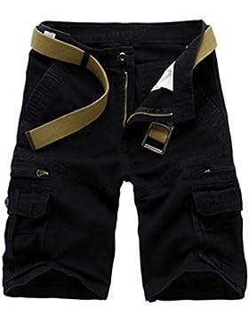 Menschwear Herren Vintage Cargo Shorts Bermuda Kurze Hose Sommer Kurze Hose
